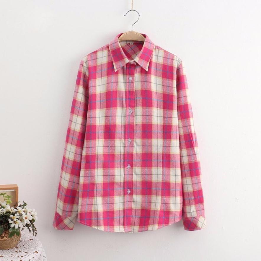 Women Blouses Long Sleeve Plaid Blouse Streetwear White Blouse Shirt Plus  Size 5XL Cotton Blusas Tops - Popular Plaid Shirts For Women Pink-Buy Cheap Plaid Shirts For