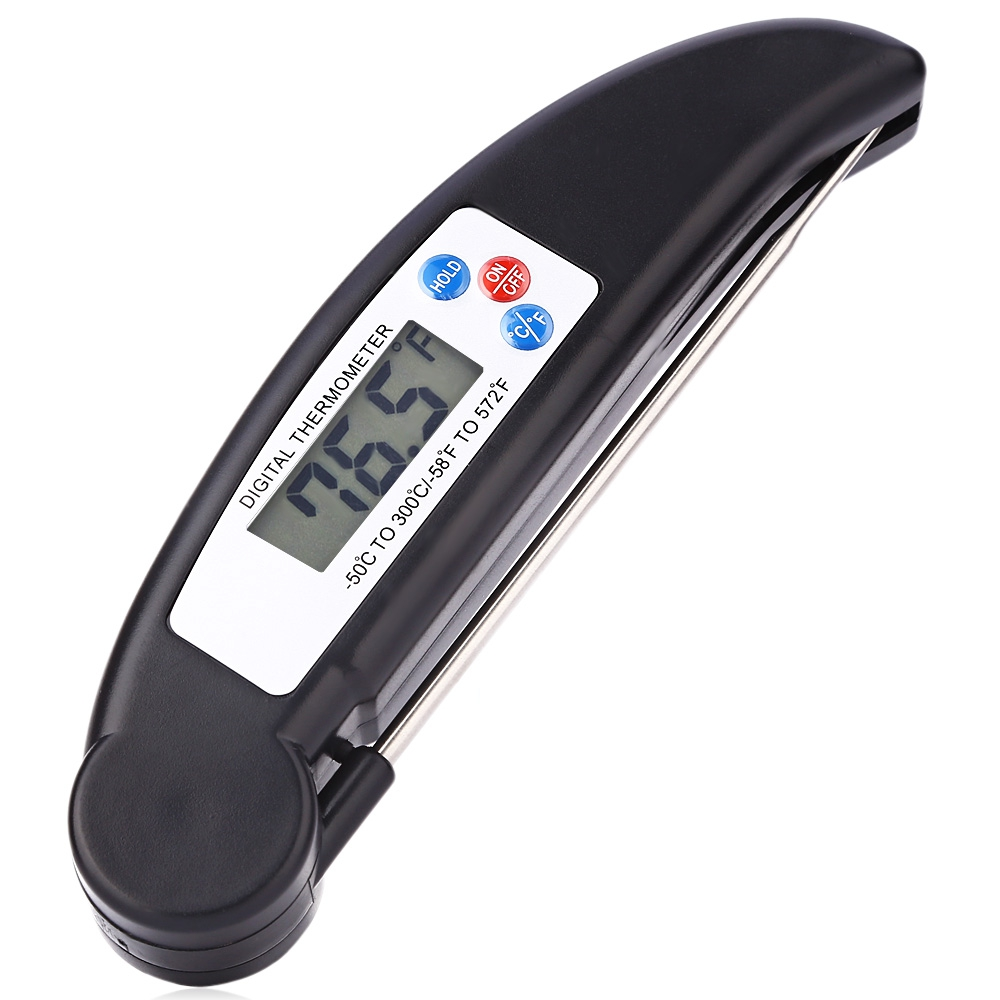 Portable LCD Display Digital Foldable Water Thermometer Hot Milk/Food/Bath Tub Hot Water Thermometer Temperature Measure Tool
