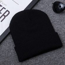 New Mens And Womens Wool Hats Europe America Autumn Winter Solid Color Striped Headgear Fashion Outdoor Warm Knit Hat
