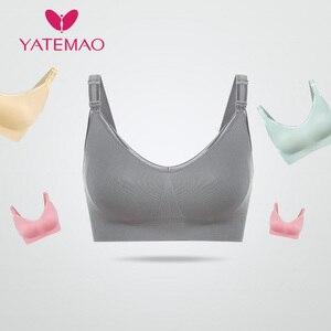 Image 5 - YATEMAO  Feeding Bra Sets Maternity Nursing Bra Pregnancy BreastFeeding Bra Soutien Gorge Allaitement Pregnancy Women Underwear