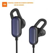 Оригинальные Xiaomi Bluetooth наушники гарнитура Молодежная версия Беспроводные спортивные наушники микрофон водонепроницаемые наушники для телефона Android