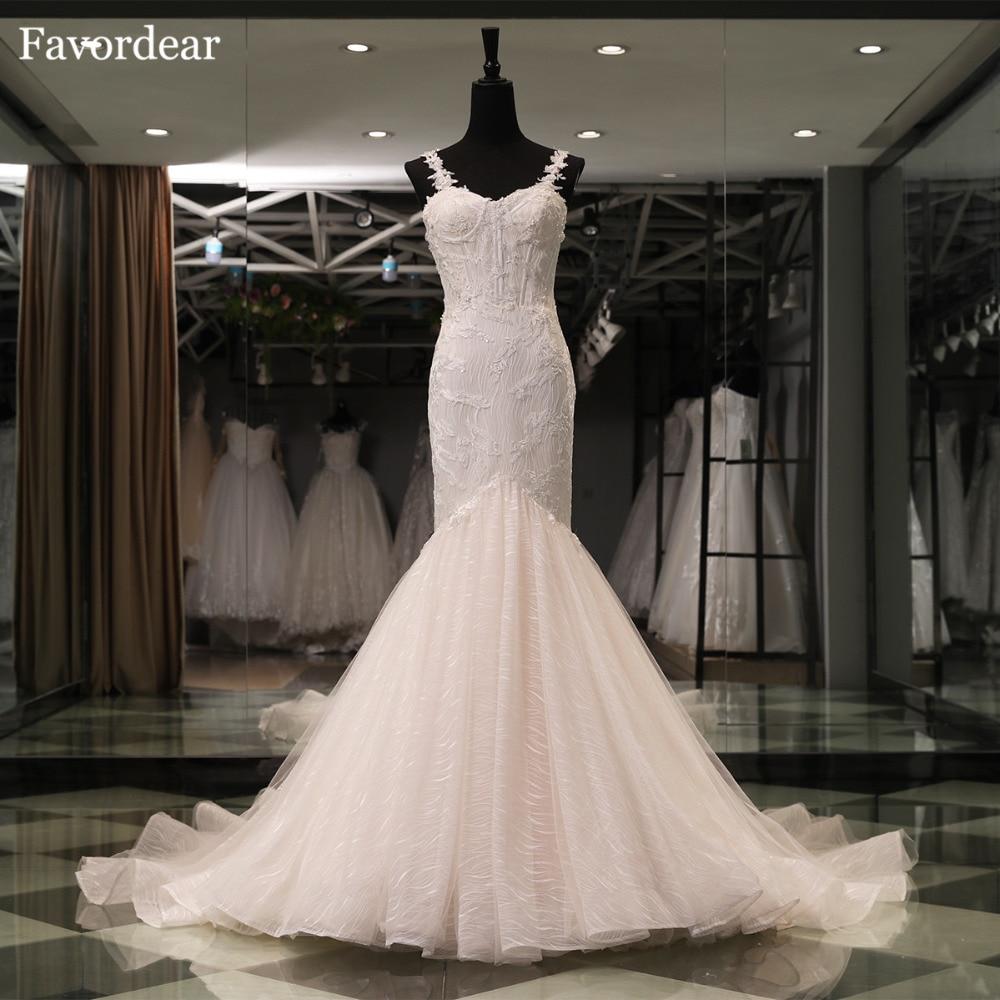 Cathedral Length Train Wedding Gowns: Favordear Top End Vestido De Novia 2018 New Cathedral