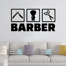 Colorful Barber Pvc Wall Stickers For Haircut Art Decal Mural Baber Shop Decor Sticker Hairstyle Decals