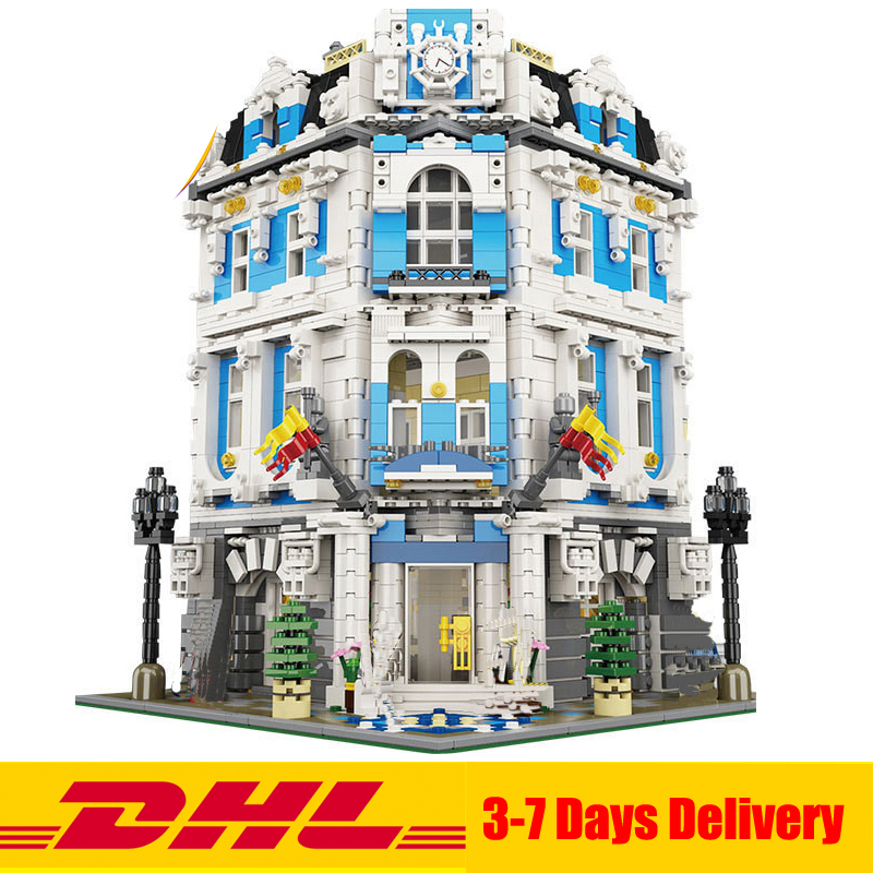 DHL Free 2018 MOC LEPIN 15018 3196pcs City Series Sunshine Hotel Building Blocks Bricks Assembled Toys In Stock lepin 15018 3196pcs creator city series sunshine hotel model building kits brick toy compatible christmas gifts