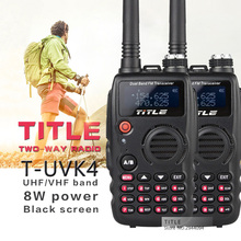 (2PCS)Black TITLE portable radio T-UVK4 Dual Band UHF VHF Two Way Radio for Baofeng UV-5R/BaoFeng UV-82 walkie talkie