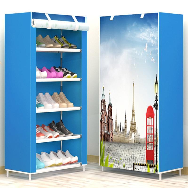 AK-6 minimalist creative fresh non-woven fashion home shoes cabinet shoes closet shoes organizer assembly furniture shoes rack