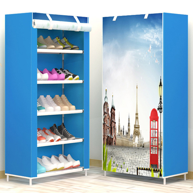 Ak 6 Minimalist Creative Fresh Non Woven Fashion Home Shoes Cabinet Closet Organizer Embly Furniture Rack