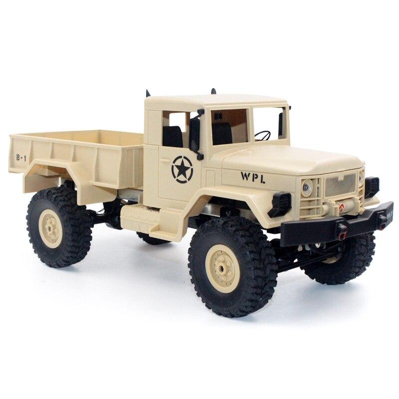Image 5 - 1/16 пульт дистанционного управления военный грузовик внедорожная Радиоуправляемая машина для скалолазания автомобиль трюк четырехколесный внедорожный военный грузовик детская игрушка-in RC-машины from Игрушки и хобби
