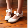 Spring Autumn Lolita Womens Chunky Heel Bowknot Pumps Mary Janes Dating Ankle Strap Shoes