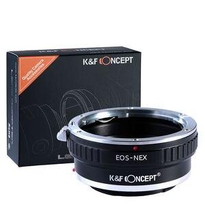 Image 1 - K & F קונספט מתאם עבור Canon EOS EF הר לסוני NEX 7 6 5R 5T A5000 A5100 a6000 A6300 A6400 A6500 A7 A7II A7R A73 A9