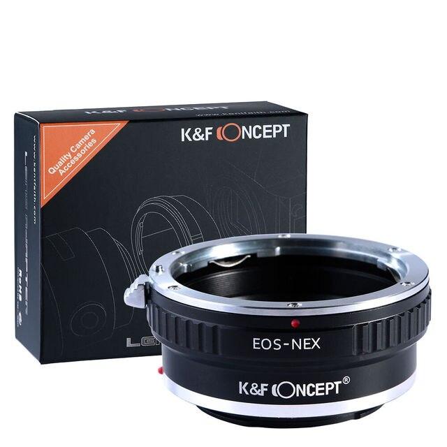 محول مفهوم K & F لعدسة تركيب Canon EOS EF إلى Sony NEX 7 6 5R 5T A5000 A5100 A6000 A6300 A6400 A6500 A7 A7II A7R A73 A9