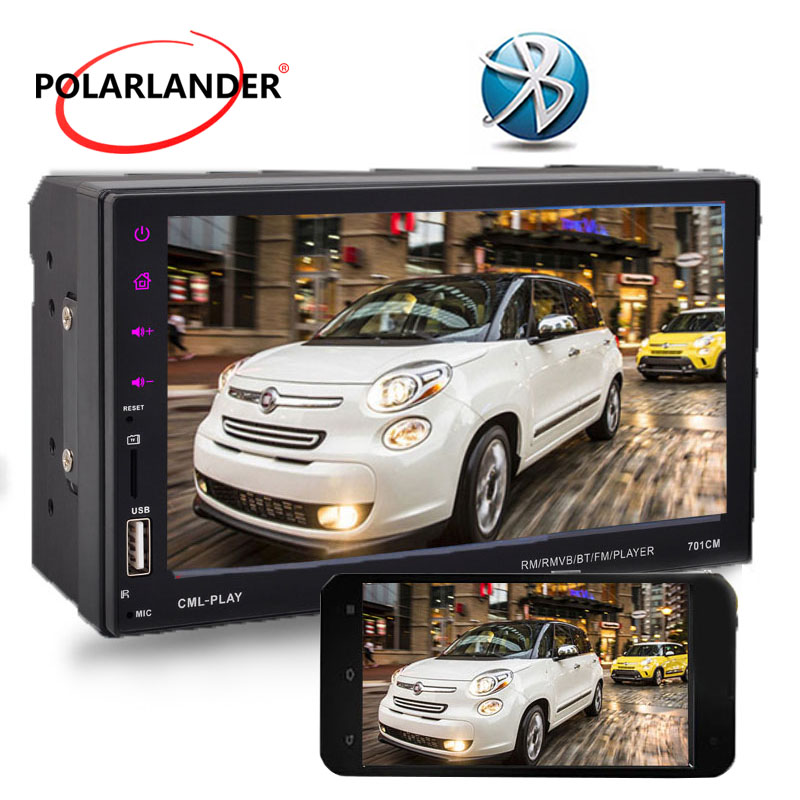 цена на 2DIN Radio Touch Screen Support Rearview Camera Player Car Stereo FM/TF/USB Bluetooth Mirror Link Screen For Android Phone