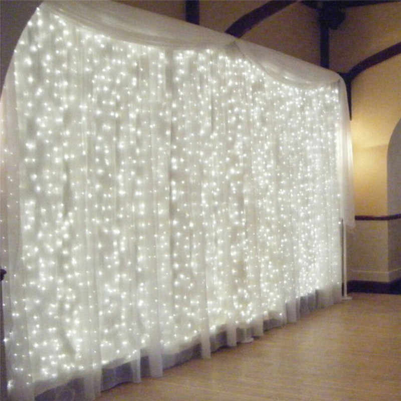 Romantic 300 LED Curtain Fairy Lights with USB Remote Controller Outdoor Garden Wedding Party Decoration