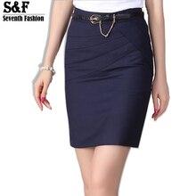 2016 Autumn Winter Women Skirts Office Formal Pencil Skirts Casual Sexy Slim High Waist Knee-Length Midi Skirt Saia Plus Size