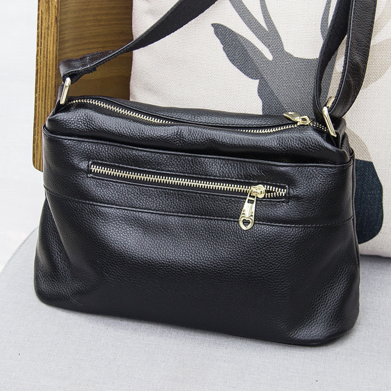 European and American Style Simple Cow Leather Women Bag 100% Genuine Leather Handbag Tote Shoulder Shoulder & Crossbody BagEuropean and American Style Simple Cow Leather Women Bag 100% Genuine Leather Handbag Tote Shoulder Shoulder & Crossbody Bag