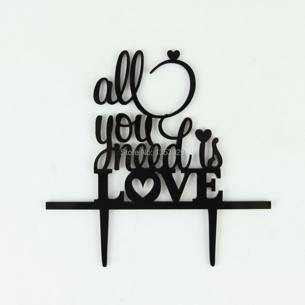 ღ Ƹ̵̡Ӝ̵̨̄Ʒ ღEnvío Libre all you need is LOVE Wedding Cake Topper ...