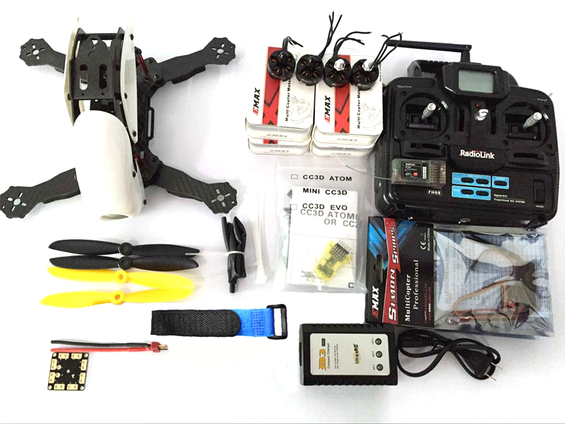 Robocat 270 Carbon Fiber Frame Kit Radiolink T6EHP-S MT2204 KV2400 Motor mini CC3D EVO 12A ESC DIY Racing Drone Mini Quadcopter drone with camera rc plane qav 250 carbon frame f3 flight controller emax rs2205 2300kv motor fiber mini quadcopter