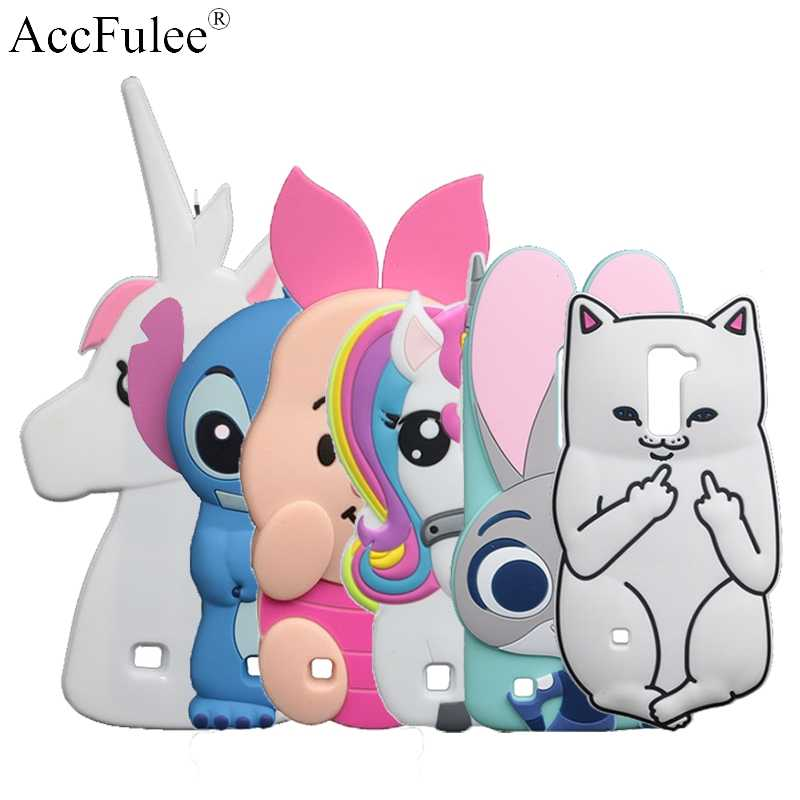 3D Cartoon Stitch Case For LG K7 Q7 X210 MS330 LS675 Tribute 5 Rabbit Dog Sulley Horse Cover