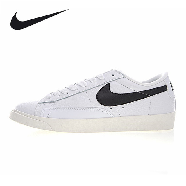 9c8044eb863 ... discount nike blazer low premium men and women skateboarding shoes  lightweight breathable white black 31220 94f6e