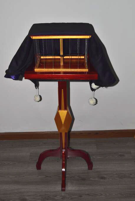 Deluxe Floating Fly Table With Appearing Bird Cage Table Mult-Function Dove Magic Tricks Stage Illusions Manipulation Mentalism