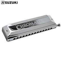 스즈키 SCX 56 c 시리즈 크로마 틱 하모니카 c 56 황동 리드 14 홀 전문 품질 하프 일본 악기