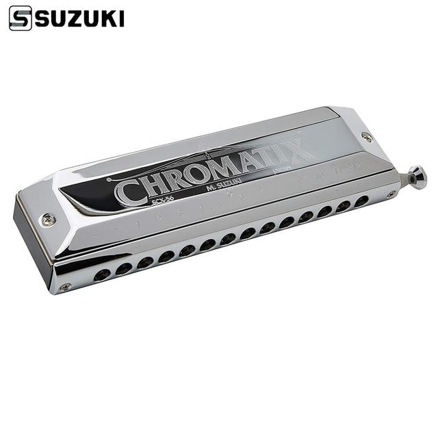Suzuki SCX 56 C Series Chromatic Harmonica  Key of C 56 Brass Reeds 14 Holes Professional Quality Harp Japan Musical Instruments