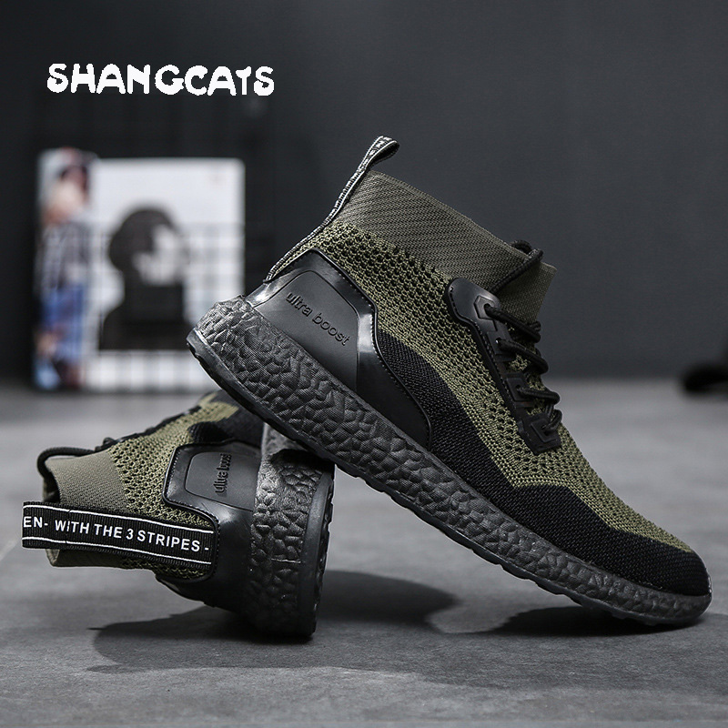 Men Shoes 2018 winter Socks Shoes Withou