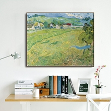 Scenery in Auve by Vincent Van Gogh Poster Print Canvas Painting Calligraphy Wall Picture for Living Room Bedroom Home Decor an angel in rrd with lute by da vinci wall picture poster print canvas painting calligraphy for living room bedroom home decor