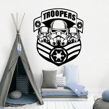 Drop Shipping troopers Vinyl Self Adhesive Wallpaper Decor Living Room Bedroom Removable Decoration Accessories