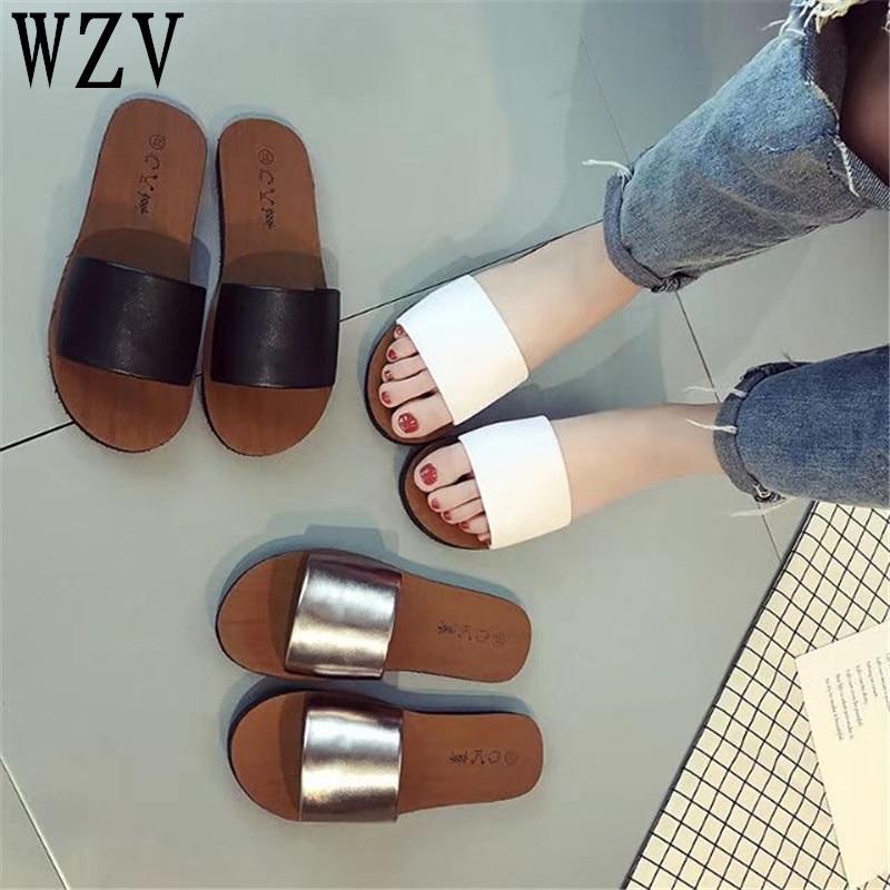 Women Sandal 2018 New Fashion Slippers Platform Sandals Summer Flip Flops Comfortable Peep Toe Flat Shoes  K002