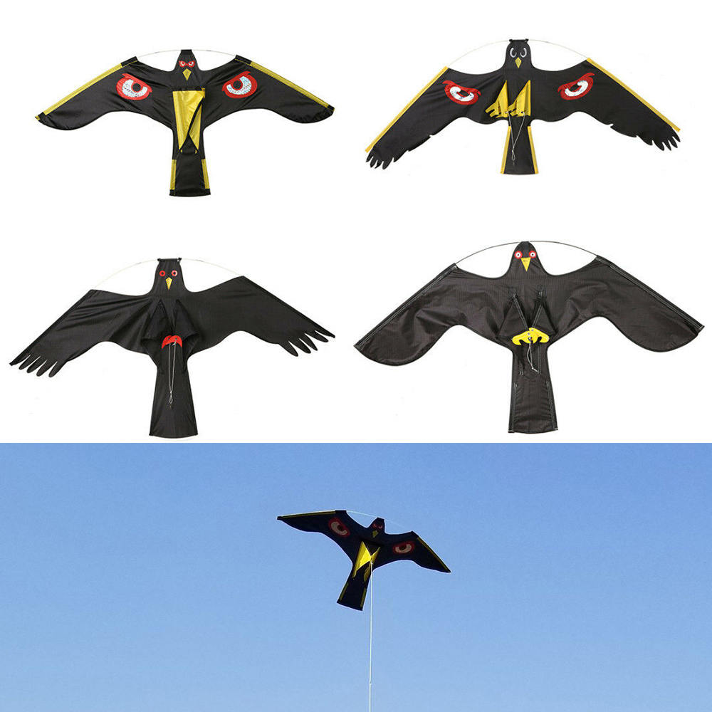 Black Birds Flying Hawk Kite Decoy Repellent Creative Scarer Toy for Protect Farmers Crops Insect Pest Control Garden Supplies|Repellents| |  - title=