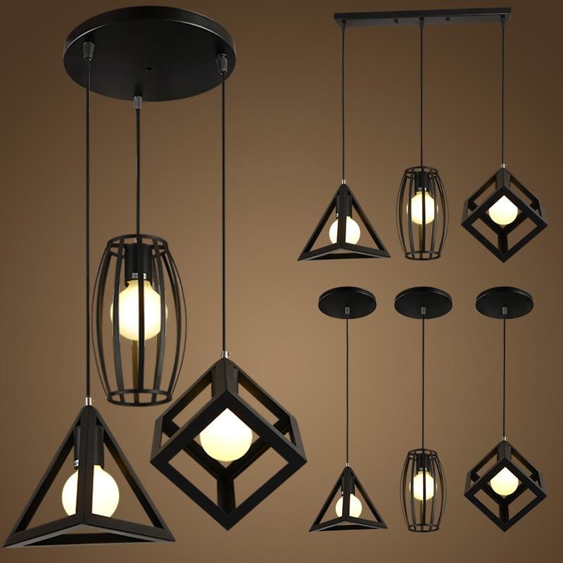LED lights Retro indoor lighting Vintage pendant light kinds iron cage lampshade warehouse style light fixture