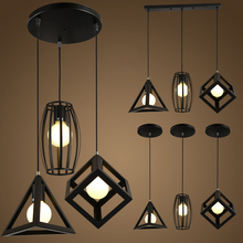 LED lights Retro indoor lighting Vintage pendant light  kinds iron cage lampshade warehouse style light fixture