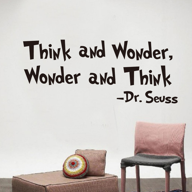 Think And Wonder Quotes Decoration Wall Stickers Creative Living Beauteous Wonder Quotes