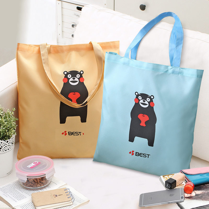 Cartoon Reusable Supermarket Folding Shopping Bags Portable Large Oxford bags Thick bag Foldable Waterproof Shoulder Bag Handbag