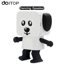 DOITOP Wireless Bluetooth Speaker Cute Cartoon Dancing Dog Music Bass Stereo Loudspeaker Subwoofer For Children Toy Gifts A3