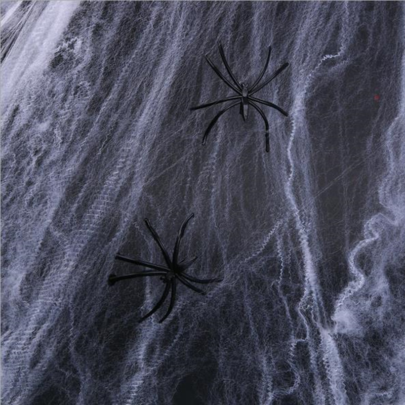 Novelty & Special Use Ingenious Halloween Hot New Funny Stretchable Plastic Spider Web Decoration For House Decorated Props Horror Spider Silk Costume Props
