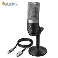 FIFINE USB Microphone pour ordinateur portable et Ordinateurs pour L'enregistrement de Streaming Twitch Voix off Podcasting Youtube Skype K670