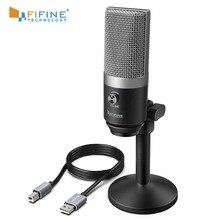 FIFINE usbli mikrofon dizüstü ve bilgisayarlar için kayıt akış Twitch ses aşırı Podcasting için Youtube Skype K670