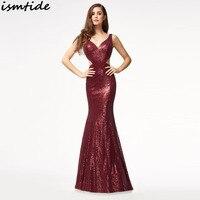 Sequin Maxi Dress 2018 New V Neck Elegant Long Sparkle Sequin Maxi Dress Mermaid Club Party