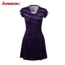 Быстросохнущее Спортивное платье из полиэстера, новые женские теннисные платья Kawasaki с шортами для женщин и девушек, одежда для нетбола, SK-T2701