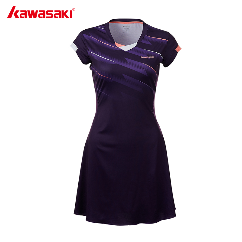 Quick Dry 100% Polyester Sports Dress New Kawasaki Female Tennis Dresses With Shorts For Women Girls  Netball Clothes SK-T2701
