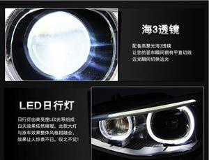 Image 5 - Bumper headlamp for BMW F20 headlights 116i 118i 120i 135i 125i 2012~2015 front light F20 head lamp Bi Xenon Lens hi lo HID