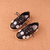 Girls Shoes 2014 Spring Children Tendon Sneaker Shoe Baby Girls Canvas Leather Shoes Kids Flowers Shoes