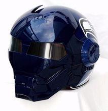 Личность мотоциклетный шлем Подлинных мужчин и женщин железный человек ретро высокого класса off-road мотоцикл синий чайка