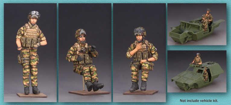 Бесплатная доставка 1/35 масштаб Неокрашенная Смола рисунок французский VBL Crew 3 коллекция фигурок фигурка