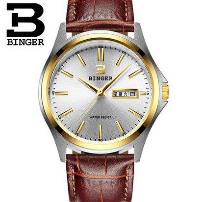 2016 New Gold Men Fashion Wholesale Wristwatches Luxury Brand Men s Binger Watch Sports Watches Switzerland