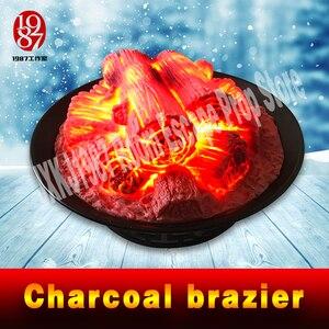 Image 2 - escape game prop Round Electric fireplace simulation Charcoal brazier fake firewood bar KTV decoration craft Christmas JXKJ1987