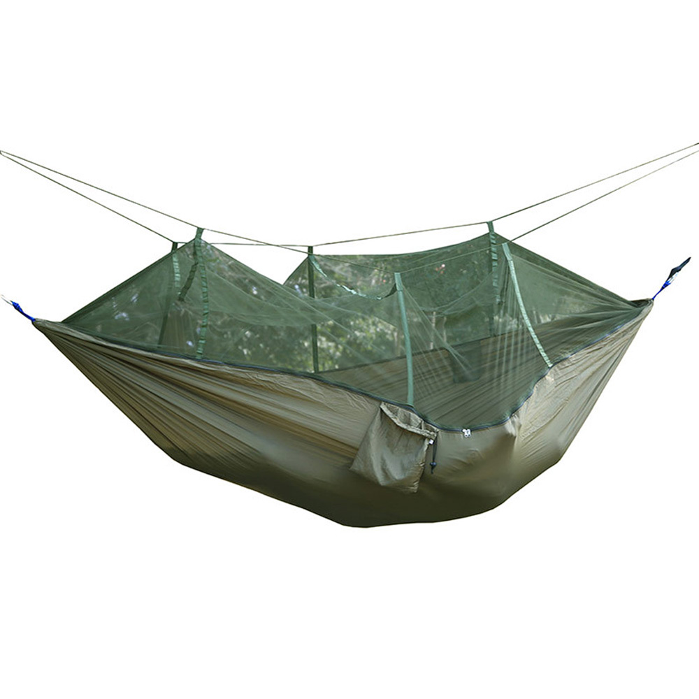 Portable Travel Outdoor indoor Camping Backpacking Garden Tent Hanging Hammock Bed With Mosquito Net 2 people portable parachute hammock outdoor survival camping hammocks garden leisure travel double hanging swing 2 6m 1 4m 3m 2m