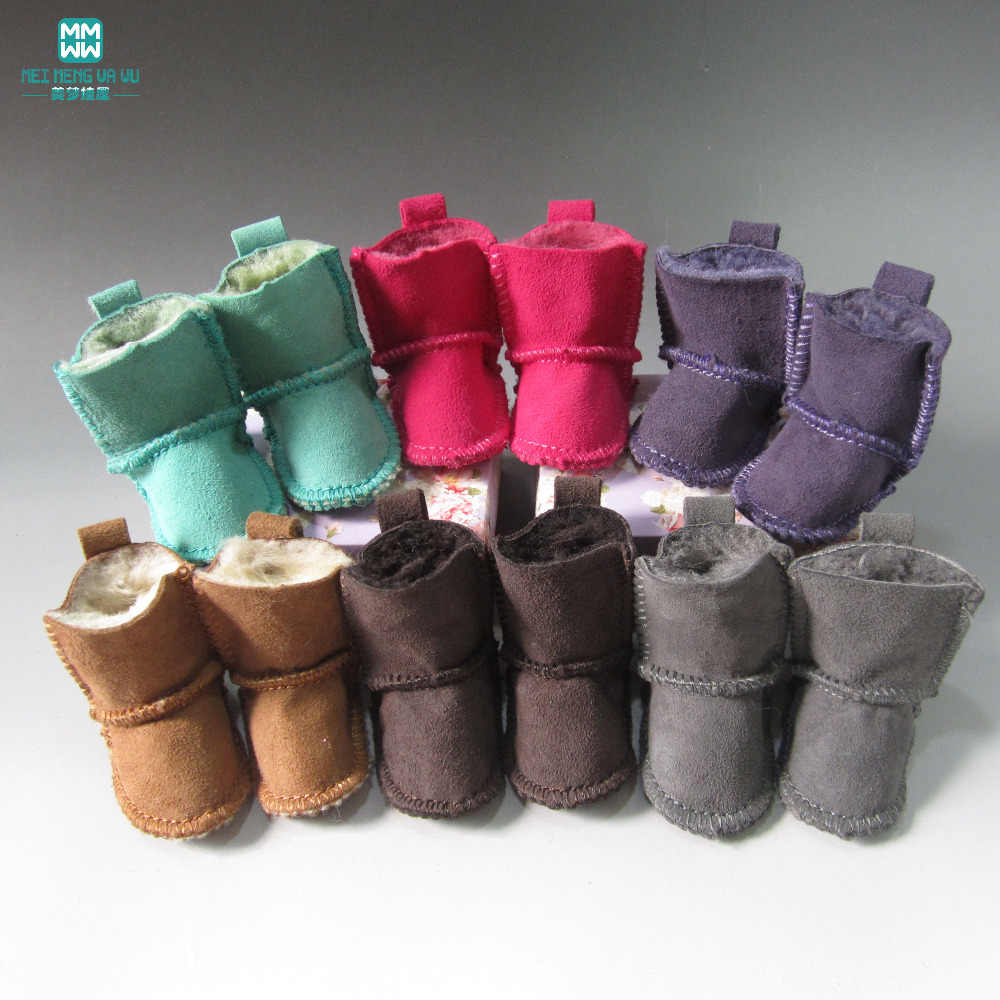 1pcs Mini Doll shoes Woolly boots for 1/4 1/3 bjd doll and 16 Inch 40cm Sharon doll (No cartons)